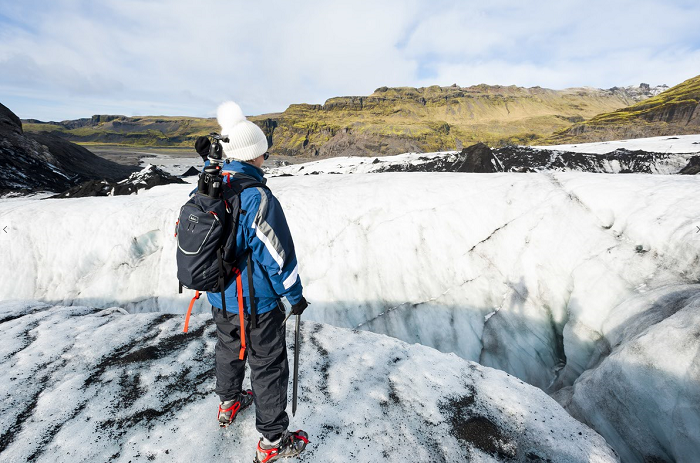 The Sólheimajökull Glacier in Iceland, a country with abundant renewable energy that can power IoT sustainabley