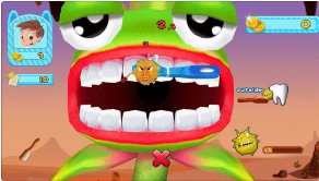 The Grush smart toothbrush includes interactive and instructive mobile games like Monster Chase.