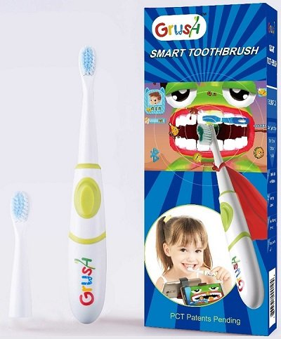 Grush: The Gaming Toothbrush is an advanced Bluetooth motion sensing toothbrush, coupled with interactive and instructive mobile games. The smart toothbrush can guide kids' brushing and lets parents track the results.