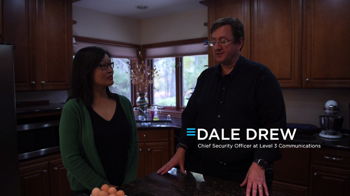 Dale Drew, CSO at Level 3 Communications, gives the Denver Posts' Tamara Chuang a tour of his smart home