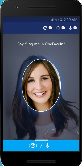 App OneFaceIn includes facial recognition with voice biometrics
