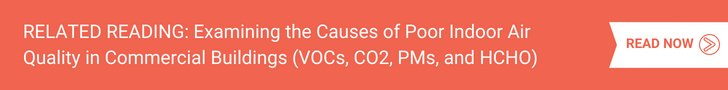 Examining the Causes of Poor Indoor Air Quality in Commercial Buildings (VOCs, CO2, PMs, and HCHO)